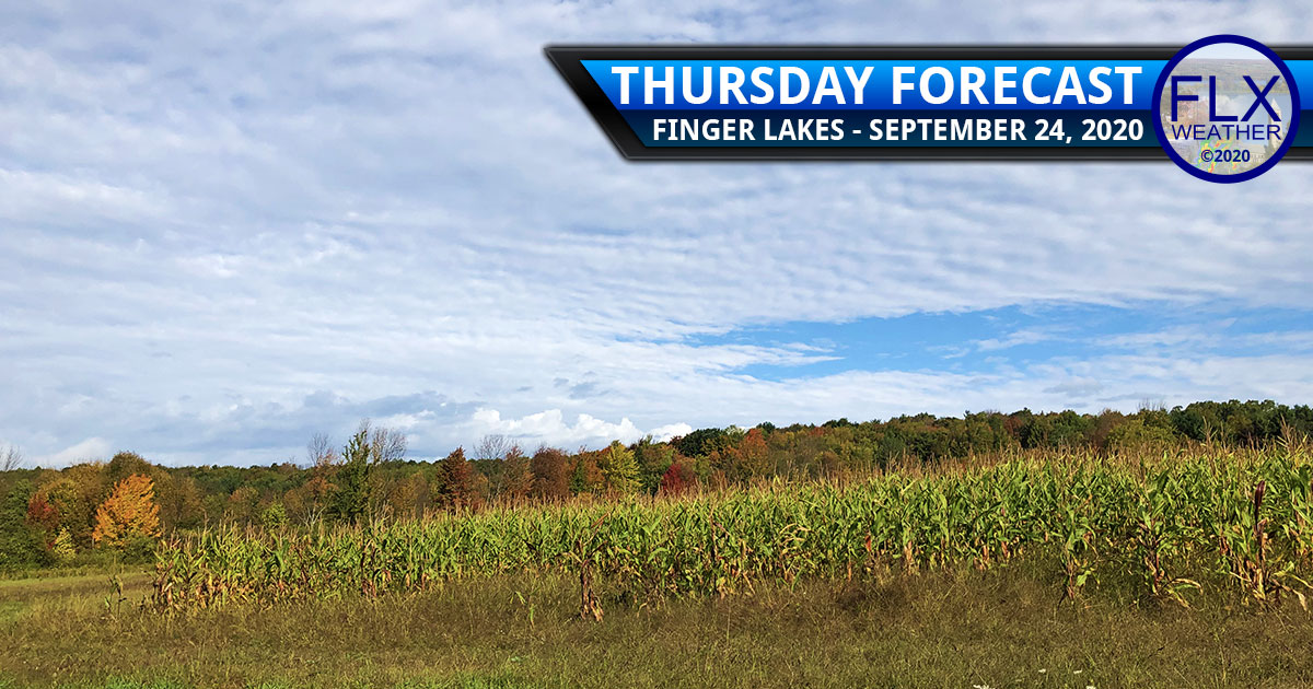 finger lakes weather forecast thursday september 24 2020 clouds showers warm weekend weather