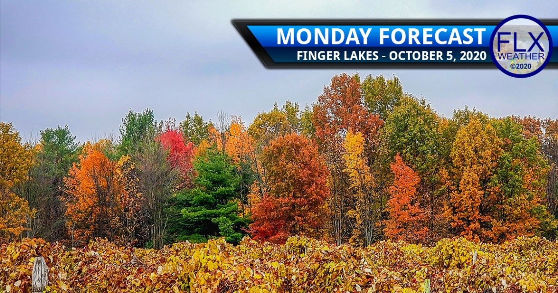 finger lakes weather forecast monday october 5 2020 temperatures cold front high pressure rain clouds sunny