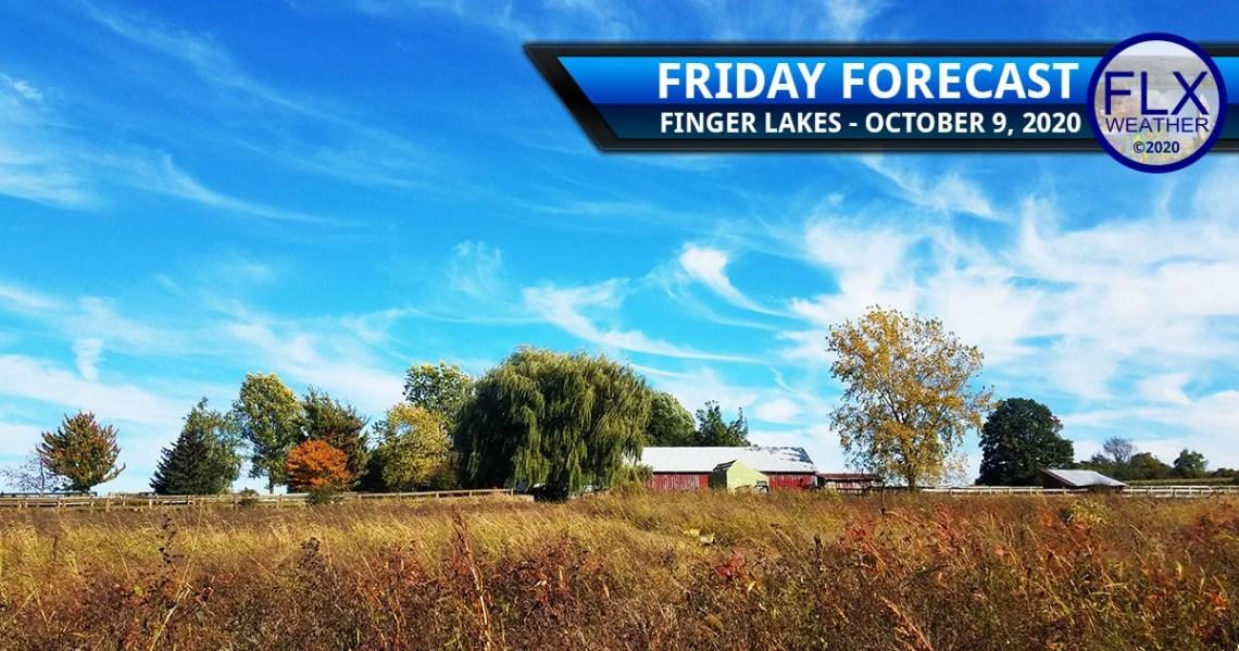finger lakes weather forecast friday october 9 2020 sunny warm weekend