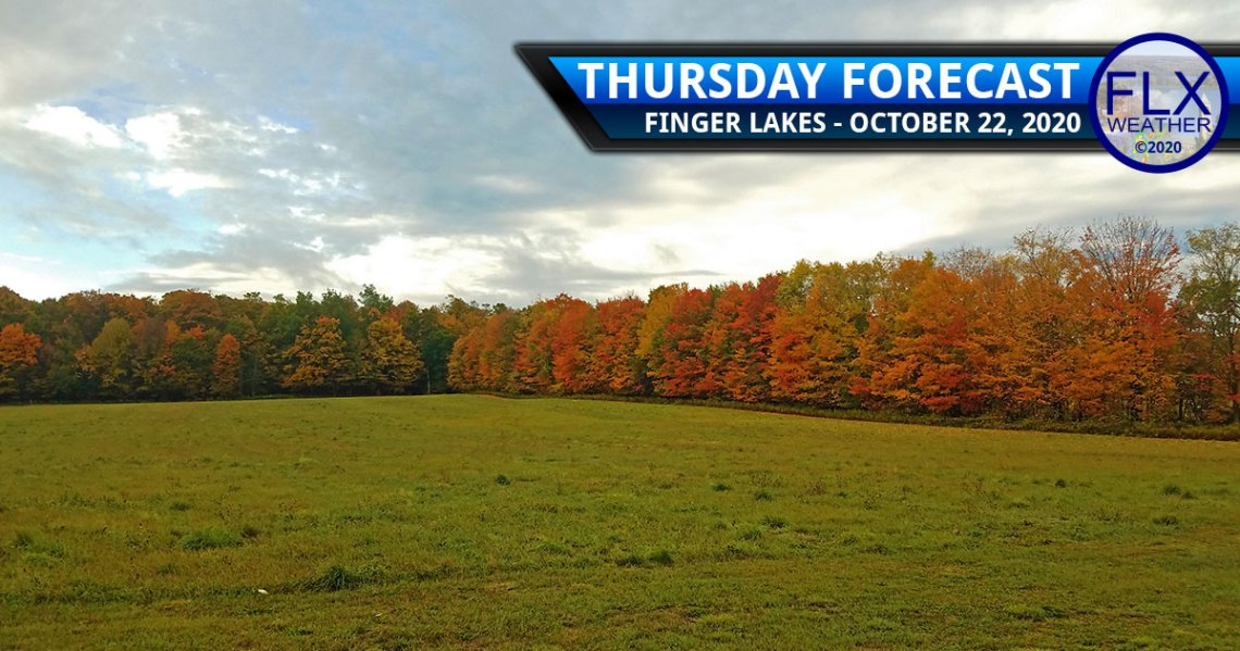 finger lakes weather forecast thursday october 22 2020 rain front clouds sun temperatures