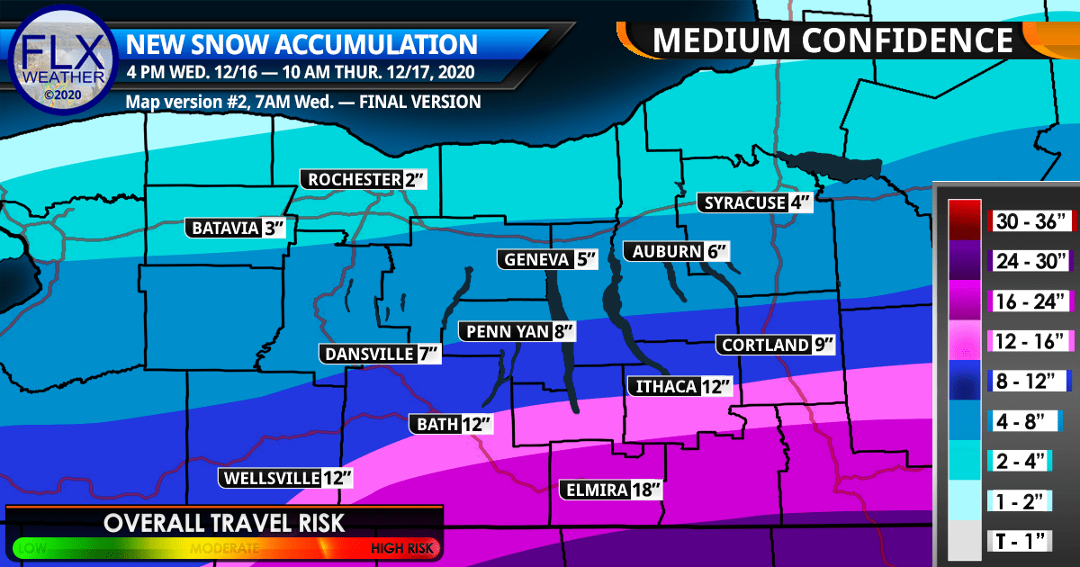 finger lakes weather forecast wednesday december 16 2020 snow storm snow map snow amounts noreaster