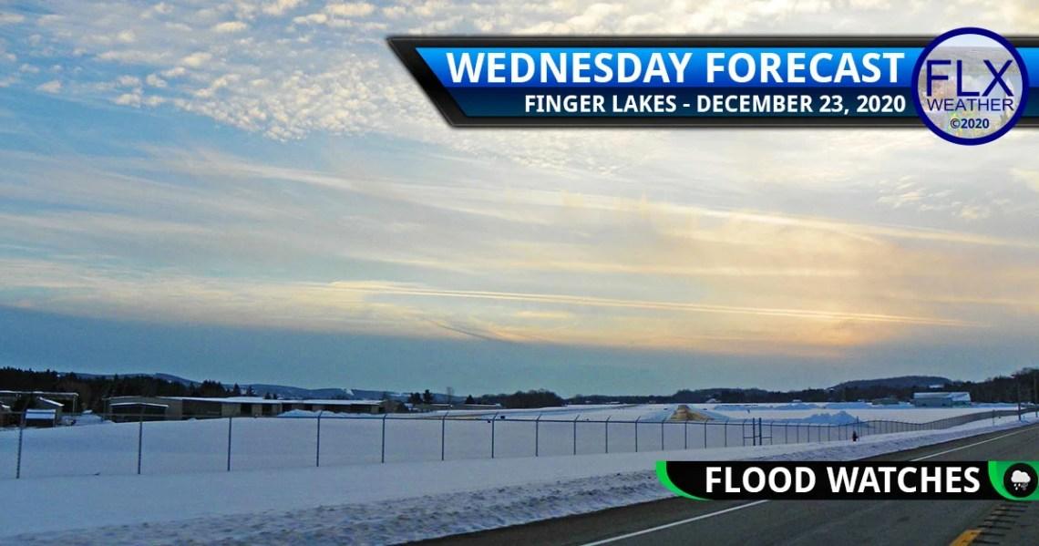 finger lakes weather forecast wednesday december 23 2020 flood watch flash flood christmas eve rain wind flooding