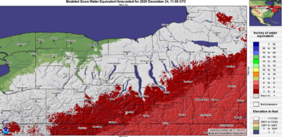 finger lakes weather forecast thursday december 24 2020 snow water equivalent.