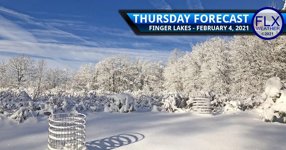 finger lakes weather forecast thursday february 4 2021 sunny high pressure snow freezing rain friday
