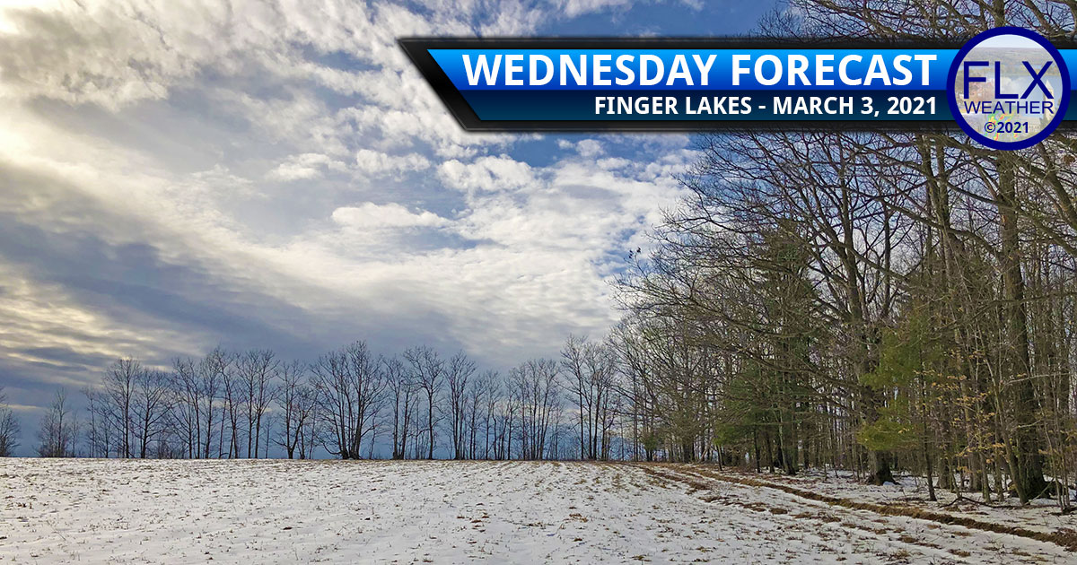 finger lakes weather forecast wednesday march 3 2021 sun clouds cold front snow lake effect