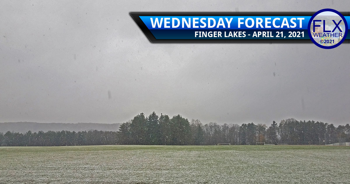 finger lakes weather forecast wednesday april 21 2021 snow flurries windy cold