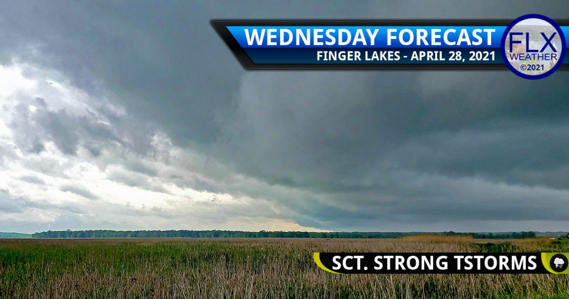 finger lakes weather forecast wednesday april 28 2021 scattered severe thunderstorms damaging winds hail lightning