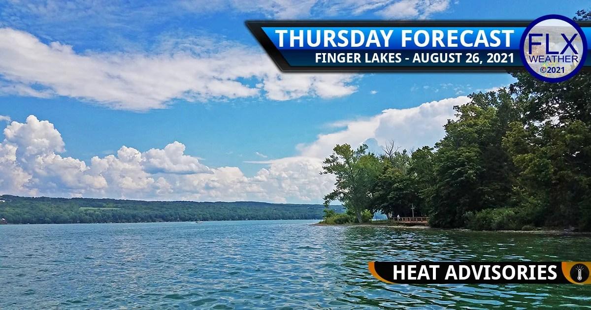 finger lakes weather forecast thursday augsut 26 2021 hot humid heat advisory