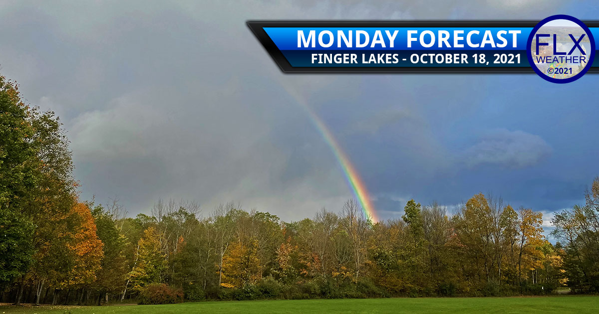 finger lakes weather forecast monday october 18 2021 chilly lake effect rain showers