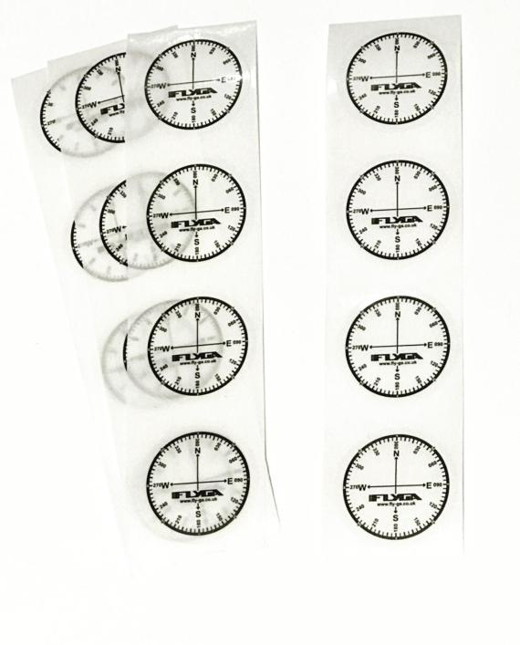 Compass Rose Map Stickers (Aviation)