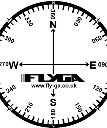 Compass Rose Flight Stickers (12 Pack) - Flight Equipment for PPL - Aviation PPL(A) and PPL(H)