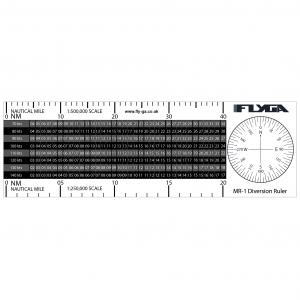MR-1 Flight Diversion Ruler (Plotter). PPL(A) and PPL(H)
