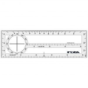 Double Sided Plotter (Nautical Mile Plotter, Navigation Ruler)