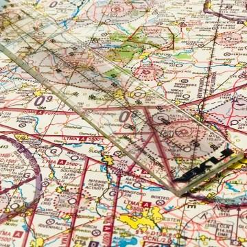 Nautical Mile Ruler (60nm) - PPL Starter Sets (Aviation Starter Sets) -- For Student Pilots -- Navigation Set