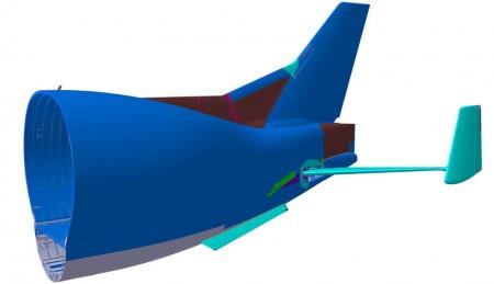 Airbus ha introducido una serie de cambios en el diseño del fuselaje trasero del Beluga XL para mejorar la estabilidad y el control en caso de fallo de un motor.