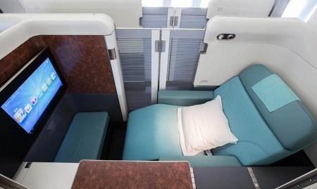 Asiento Kosmo 2.0 del Boeing 747-8I de Korean Air.