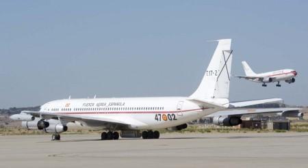 Los Boeing 707 fueron sustituidos por Airbus A310 en las misiones de transporte VIP.