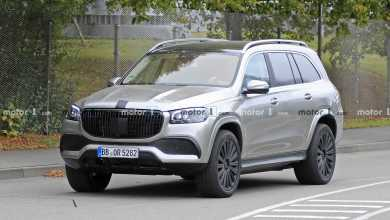 Photo of Mercedes-Maybach GLS caught testing with vertically placed front grille.