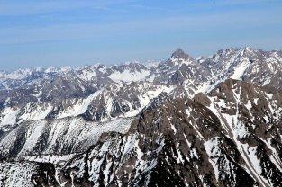 Blick Richtung Österreich über Kuhgrat