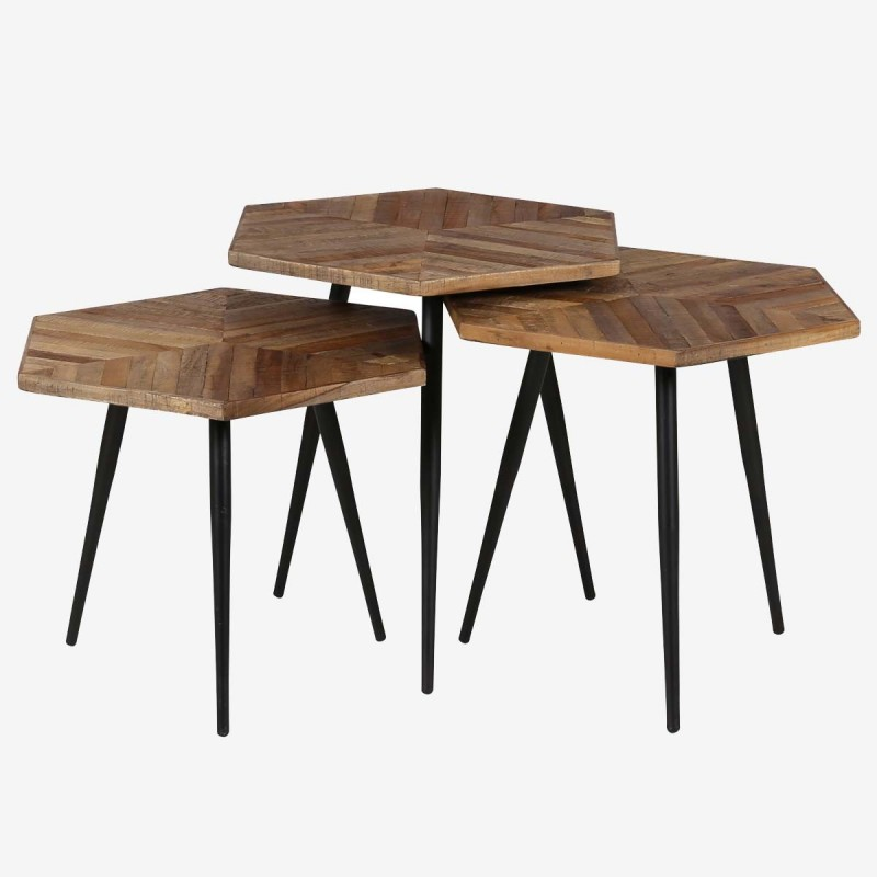 set de 3 tables basses woody