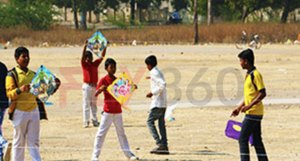 kids flying kites - Indian Kite Flying