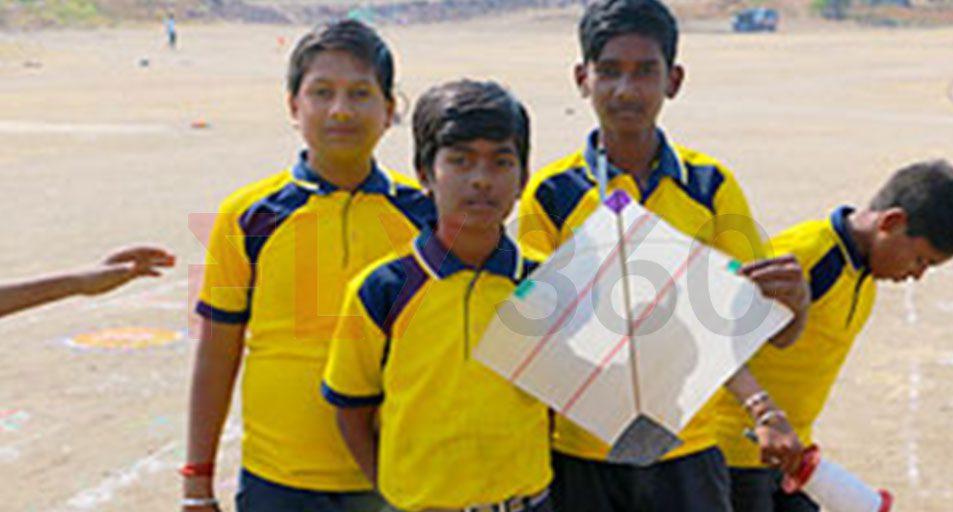 kids showing Kite - Indian Kite Flying