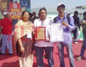 FLY360 team with shield and certificate for successfully conducting modern kite making workshop- kite festival