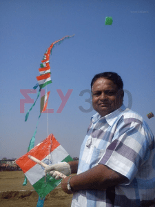 ashok shah with kite