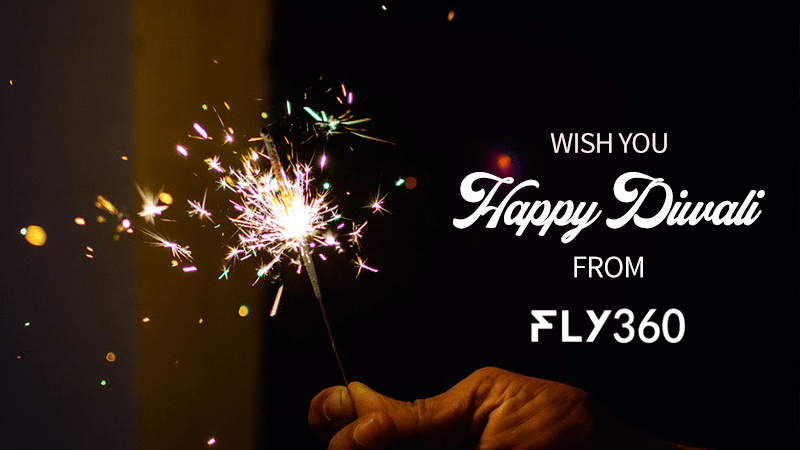 Happy diwali fly360 banner