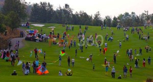 social gathering kite flying