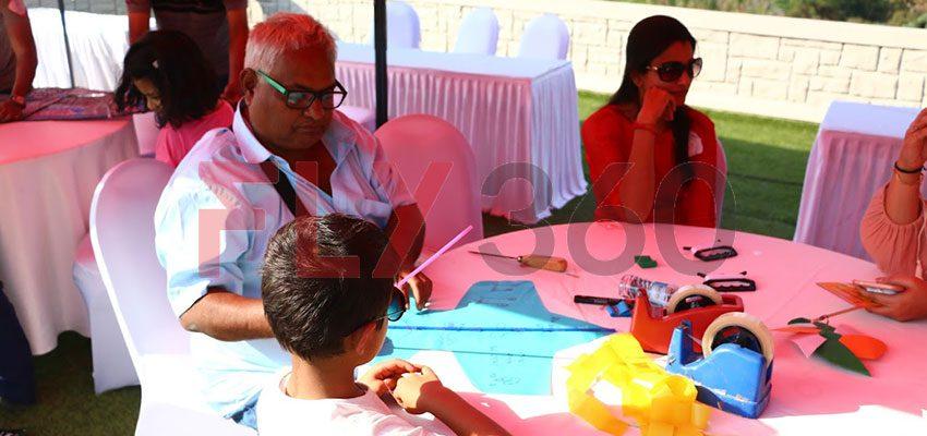 summer camp kite making with ashok shah
