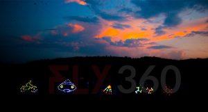 led night flying kite show fly360