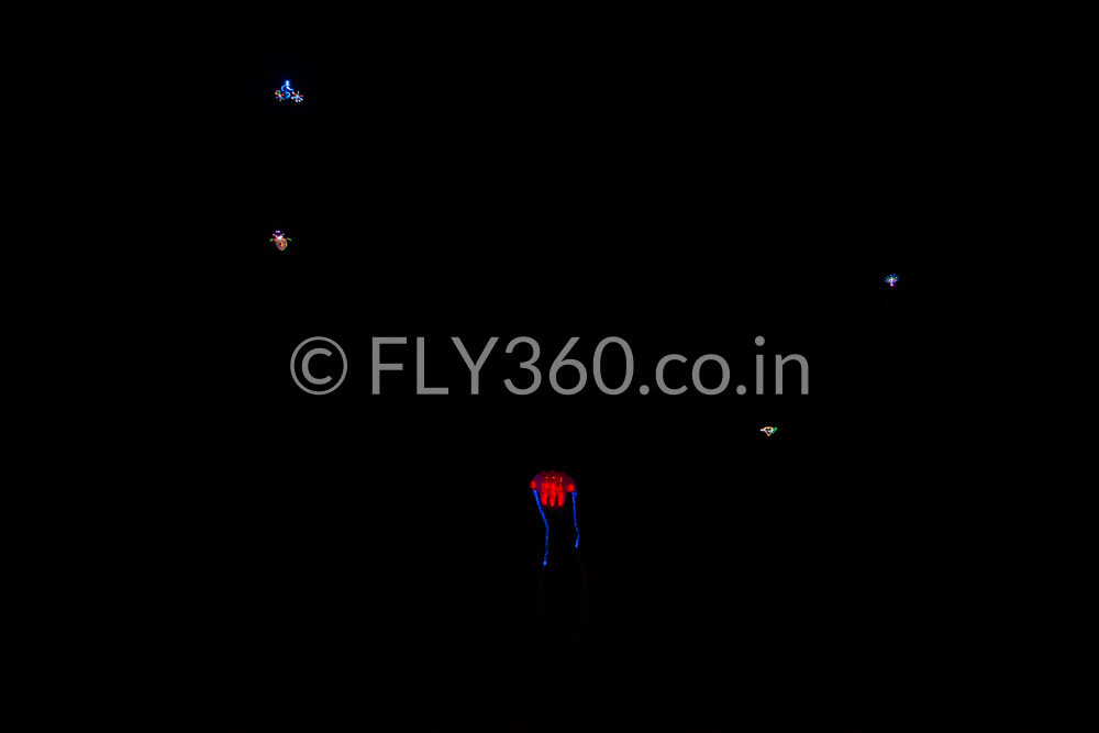 led night flying kite