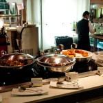 DXB Business Class Lounge hot food