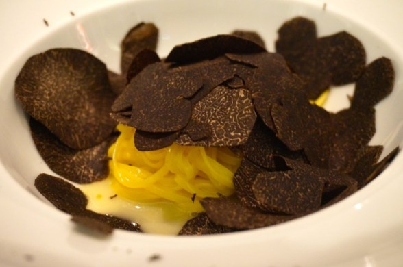 Truffles on top of truffles on top of truffles. Oh, there's pasta, too? (at 8 1/2 Otto e Mezzo Bombana)