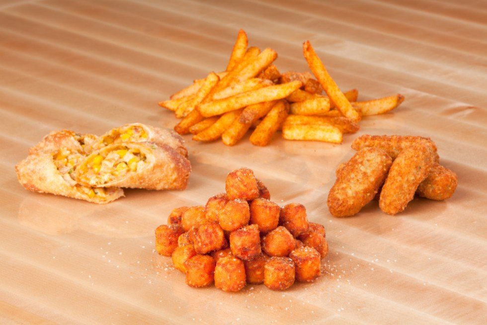 Sides_Seasoned Fries, Stuffed Hot Peppers, Sweet Potato Tots & Buffalo Chicken Spring Roll