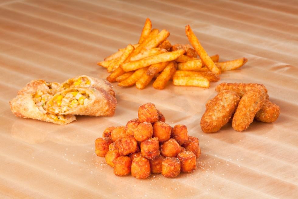 Sides_Seasoned Fries, Stuffed Hot Peppers, Sweet Potato Tots & Buffalo Chicken Spring Roll