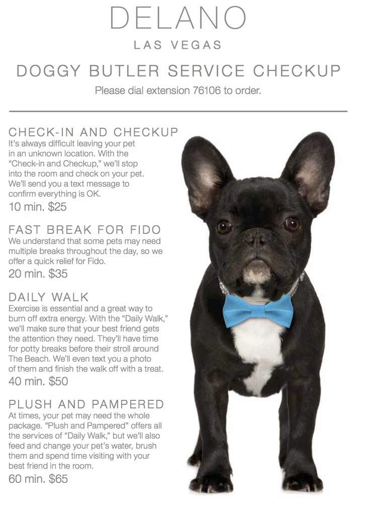 Doggie Delights Menu