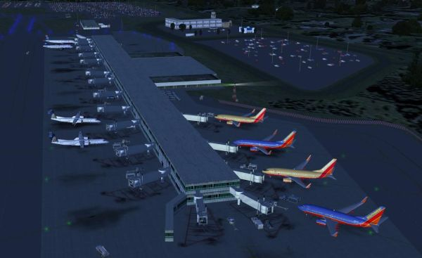 AFCAD File For KPVD for FSX