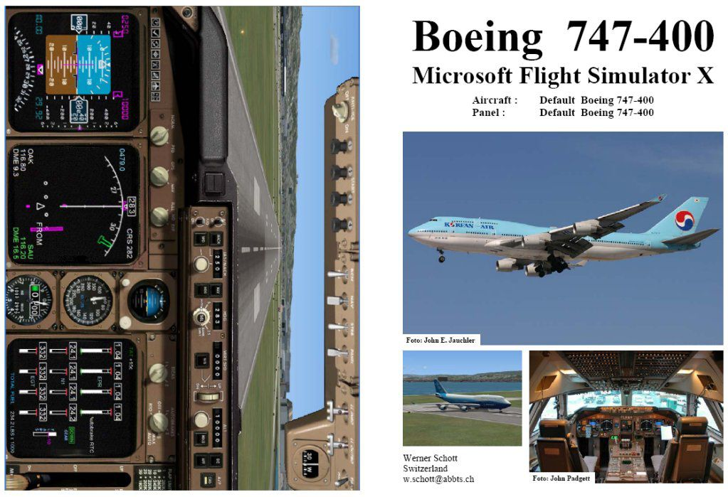 Manual Checklist Default Boeing 747 400 For Fsx