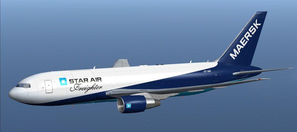 Star Air Maersk Boeing 767 204 Bdsf For Fsx