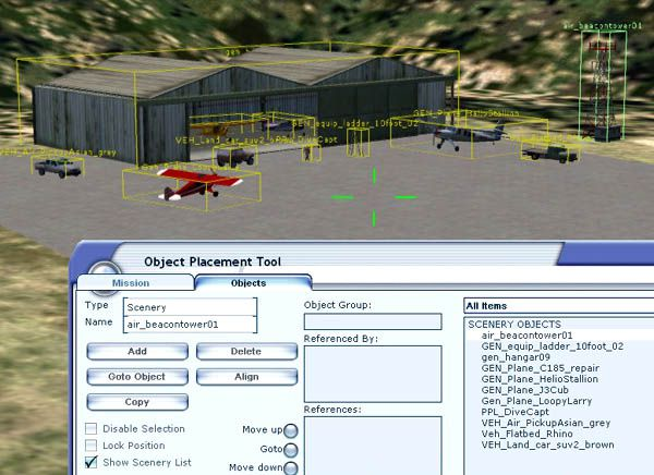Make Scenery with the Object Placement Tool in FSX for FSX