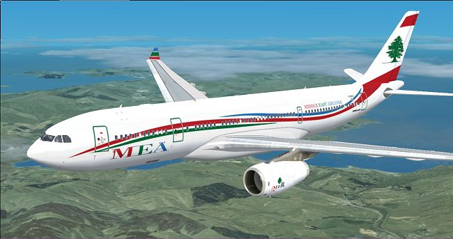 Mea Airbus A330 Wave Livery For Fsx