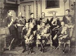 Nueve monarcas en el Castillo de Windsor, Reino Unido, el 20 de mayo de 1910.