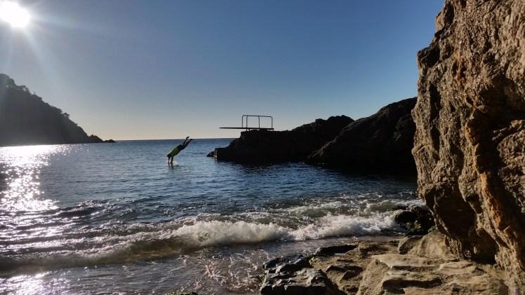 Sea Dive at Tamariu, Spain