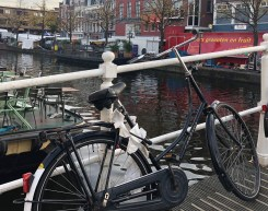 Leiden Bikes on Bridge