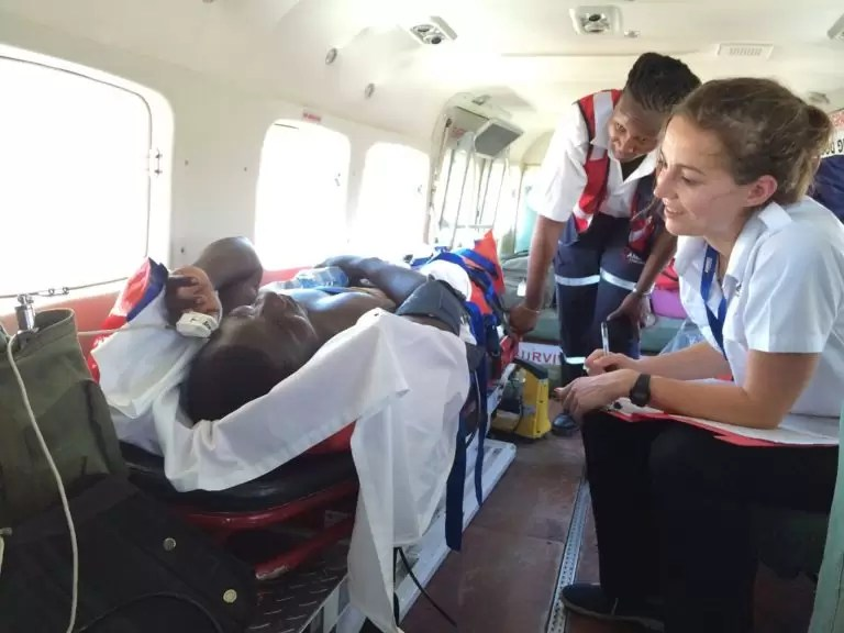 AMREF Flying Doctors evacuates Spinal fracture patient from Lodwar to Nairobi