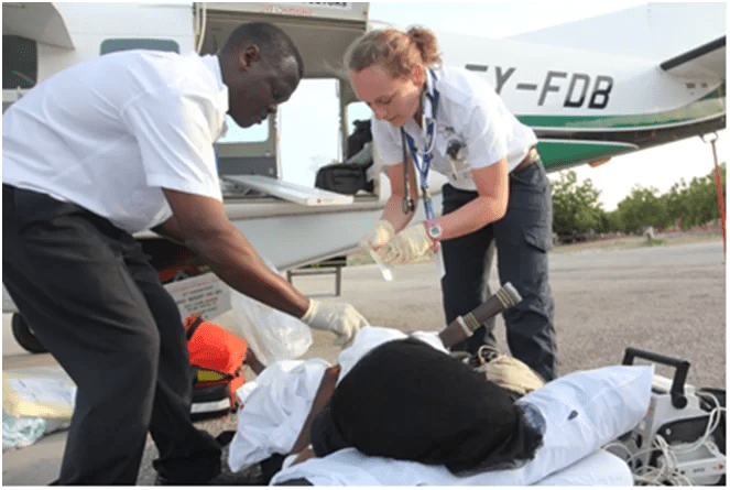 Woman with Knife in head airlifted to Nairobi