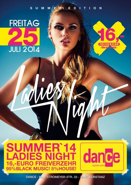 – Jeden Freitag –  Ladies Night im Dance Konstanz Die Ladies erhalten 16,- Euro Frei ...