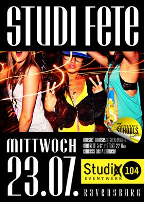 Studi Fete 23.7.14 Studio, Ravensburg